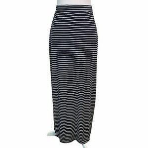 Zara Navy Striped Maxi Skirt in Small